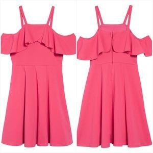 nickie lew Dresses - Nickie Lew Ruffle Cold Shoulder Dress